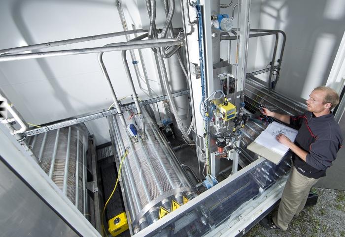 Elektrolyse zur Wasserstoffherstellung Foto © ZSW