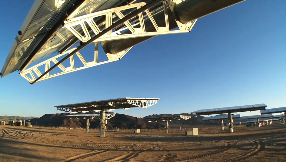 CPV in kalifornischer Wüste - Bild © Soitec-Video