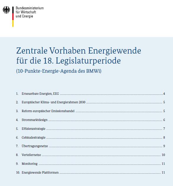 Gabriels Energie-Agenda