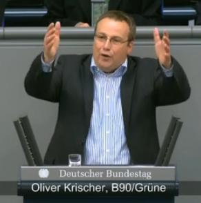 Oliver Krischer, MdB-B90Grüne - Screenshot © Bundestagsfernsehen