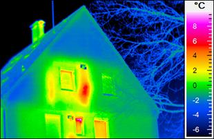 Thermografie - Haus außen Fassade - Foto © solarschmiede.de