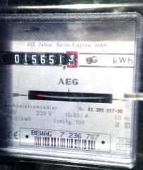 Alter Stromzähler - Foto © Gerhard Hofmann, Agentur Zukunft