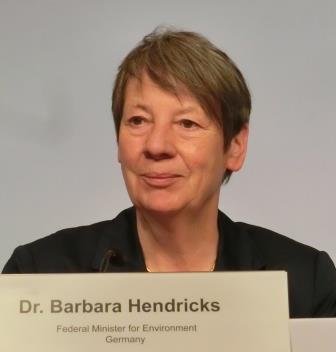 Barbara Hendricks bei 6. Petersberger Klimadialog 2015 - Foto © Gerhard Hofmann, Agentur Zukunft
