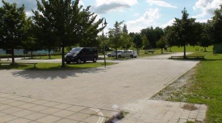 Parkplatz in Inning für Solmove-Pilotprojekt - Foto © solmove.com