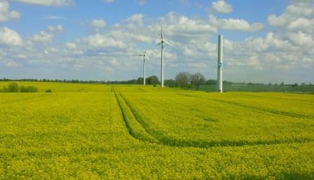 Bio und Wind in Brandenburg - Foto © Gerhard Hofmann, Agentur Zukunft