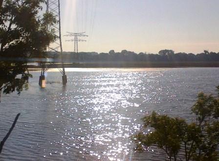 Überschwemmung bei Halle (Saale)  - Foto © Gerhard Hofmann, Agentur Zukunft-20130615