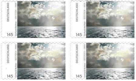 Meeresspiegel - Briefmarke 'Gerhard Richter Seestück' 1969