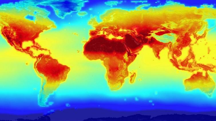 Nasa-Projektion zum Klimawandel © NASA