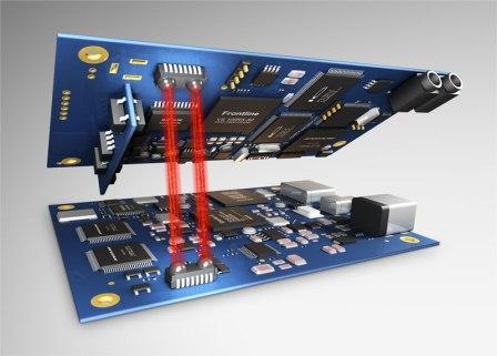 Li-Fi Interconnect statt Kabel und Stecker - Foto © Fraunhofer IPMS