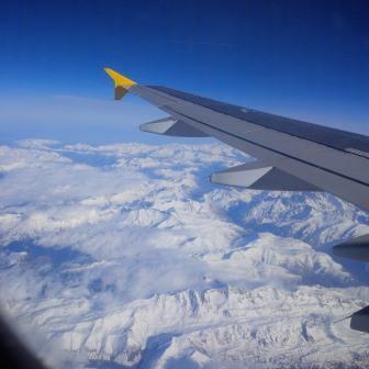 Gletscher in den französischen Alpen vom Flugzeug aus- Foto © Gerhard Hofmann, Agentur Zukunft