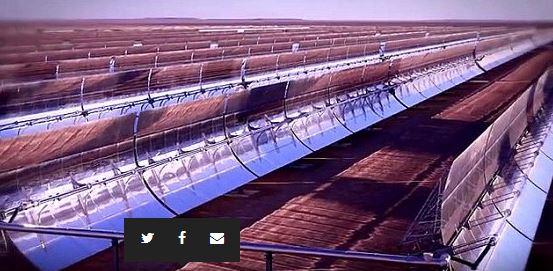 Noor 1, die Parabolspiegel - Foto © Screenshot von Weltbank auf Youtube