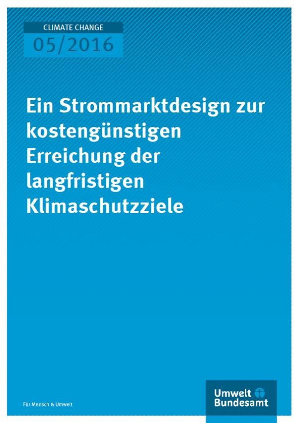 Strommarkt und Klimaschutz - Titel © Umweltbundesamt