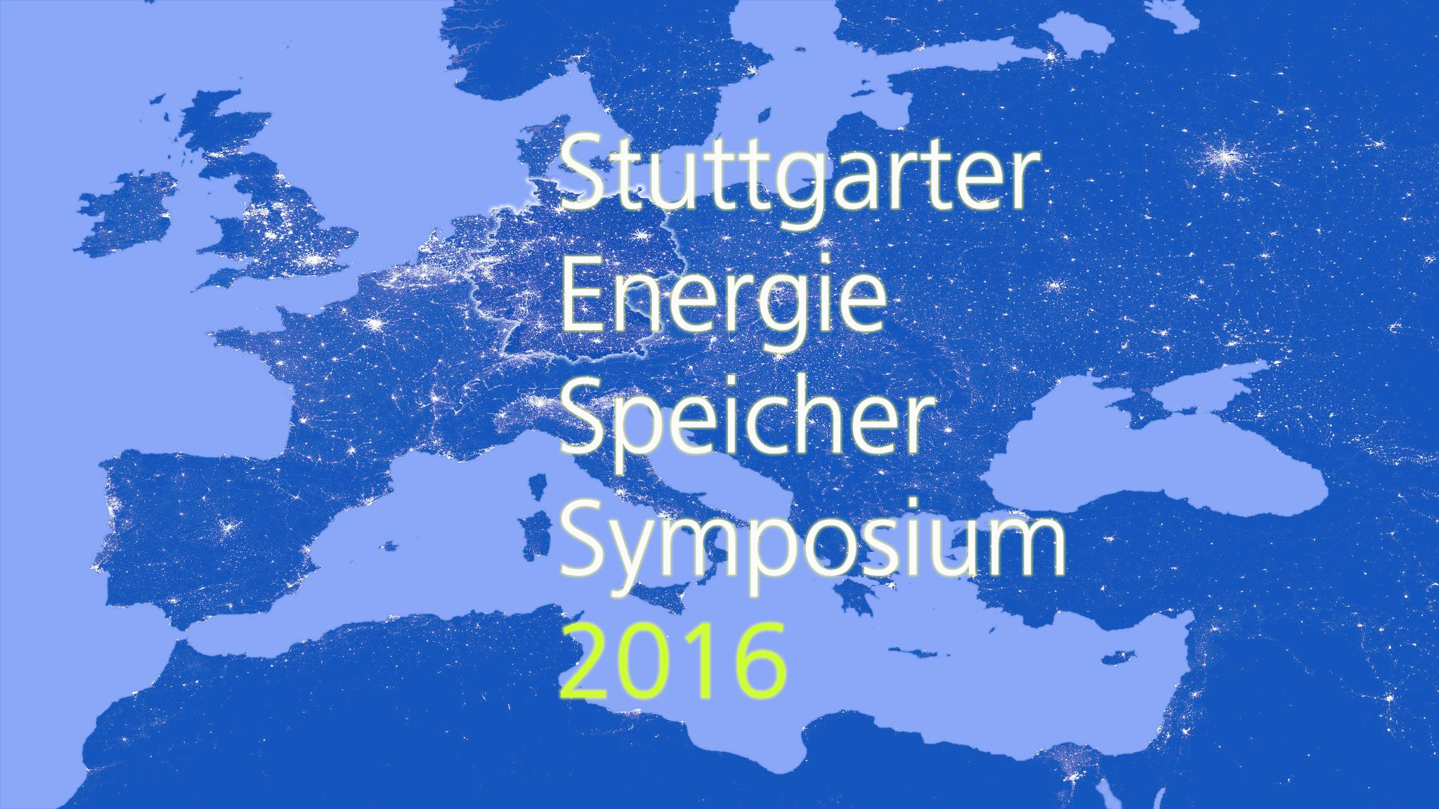 Stuttgarter Energie Speicher Symposium 2016 - Bild © DLR
