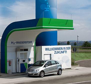 Wasserstofftankstelle - Bild © Cluster Brennstoffzelle BW