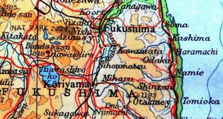 Karte von Fukushima- Foto © Gerhard Hofmann, Agentur Zukunft