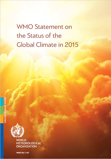 WMO Statement on the Status of the Global Climate in 2015 -Titel