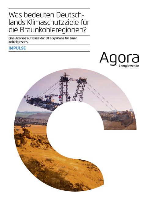 Was bedeuten Deutschlands Klimaschutzziele für die Braunkohleregionen - Titel © Agora Energiewende