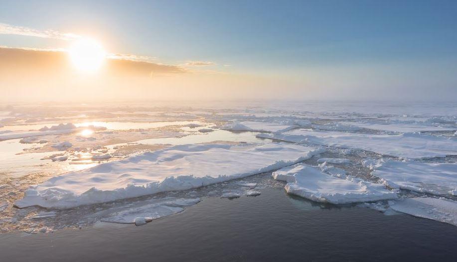 Arktisches Meereis im zentralen Arktischen Ozean, Spätsommer 2015, Polarstern-Expedition PS94 - Foto © Stefan Hendricks, AWI
