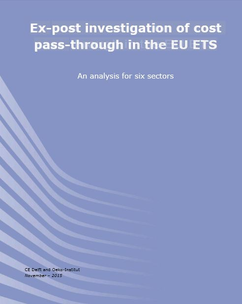 Ex post investigation of cost pass through in the EU ETS - Titel © Öko-Institut_November 2015