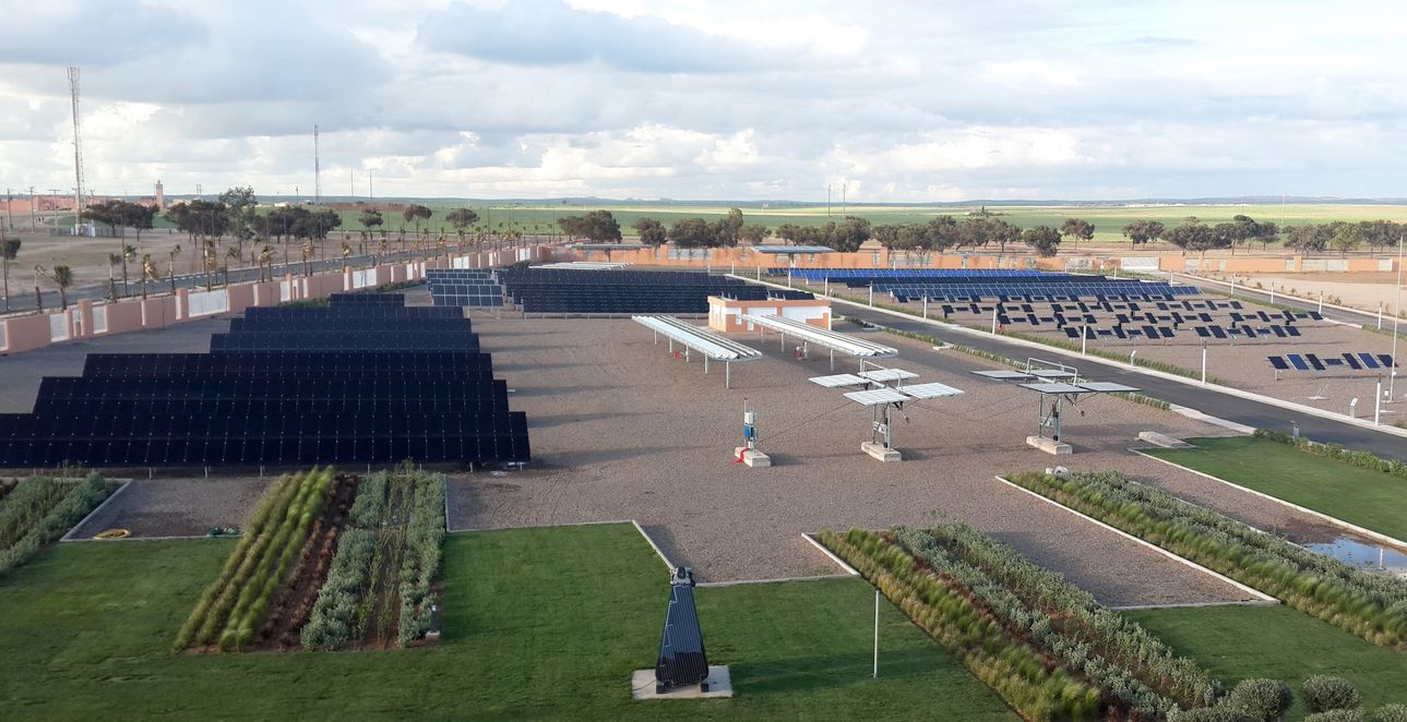 'Green Energy Park', Ben Guerir, größte PV-Testplattform Afrikas - Foto © Fraunhofer CSP