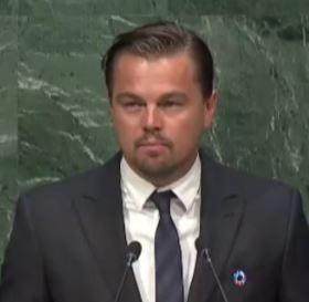 Leonardo di Caprio vor UN - Screenshot © webtv.un.org