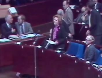 Margret Thatcher im EU-Parlament © arte.tv_Memento Films