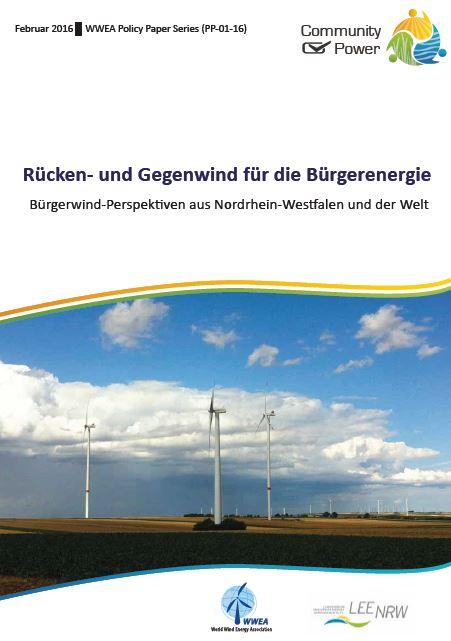 Rücken- und Gegenwind f. Bürgerenergie - Titel der Studie