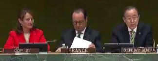 Segolene Royal, Francois Hollande - Screenshot © webtv.un.org