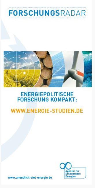Faltblatt Forschungsradar Energiewende Titel - © AEE