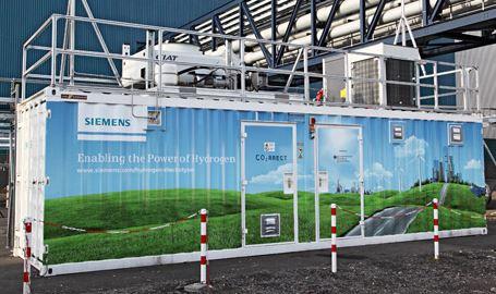 Silyzer System - PEM-Technologie wandelt elektrischen Strom in Wasserstoff - Foto © Siemens AG