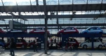 Autotransport im Bahnhof Spandau - Foto © Gerhard Hofmann, Agentur Zukunft für Solarify 20160519