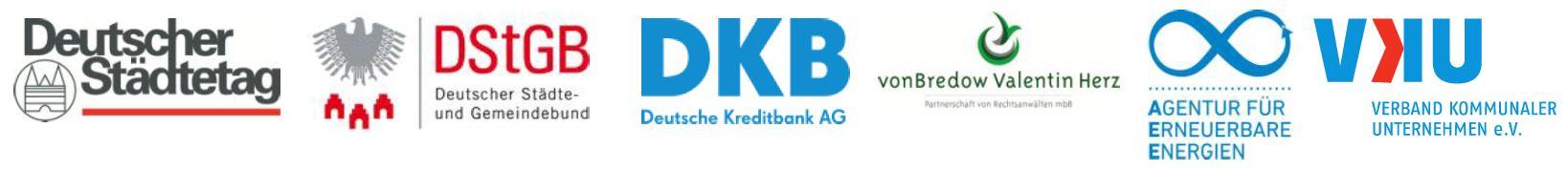 AEE, Städtetag, VKU, etc. - logos