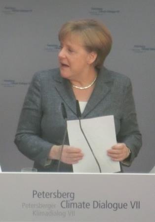 Angela Merkel vor dem 7. Petersberger Dialog - Foto © Gerhard Hofmann, Agentur Zukunft für Solarify