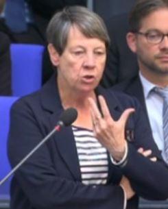 Barabara Hendricks vor dem Bundestag - Screenshot © Bundestagsfernsehen
