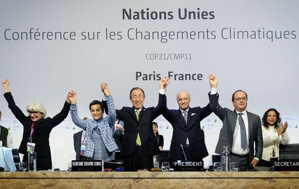 COP21-Präsidium mit Hollande - Screenshot © unfccc6.meta-fusion.com