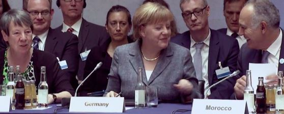 Hendricks, Merkel, Mezour- Foto © cop22.ma
