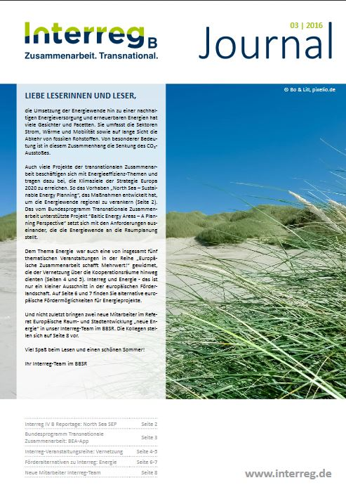 InterregB Journal 032016 - Titel @ www.interreg.de
