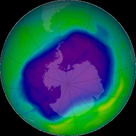 Ozonloch-Rekord 2006 - Foto © NASA, NOAA