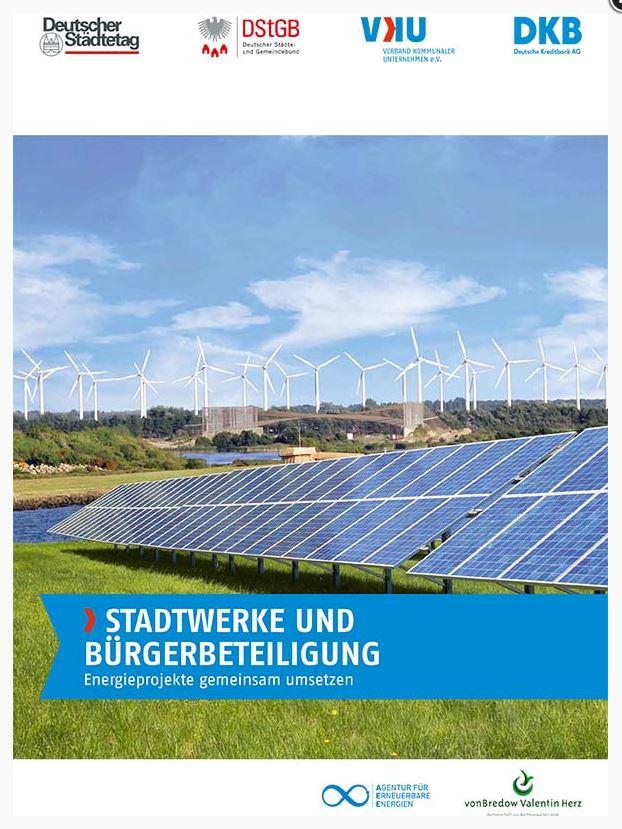 Stadtwerke und Bürgerbeteiligung, Broschüre Titel