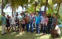 Flasbarth mit IRENA-Mitarbeitern und kubanischen Gastgebern - Foto © Botschaft Mexico, Rosemarie Liekfeldt