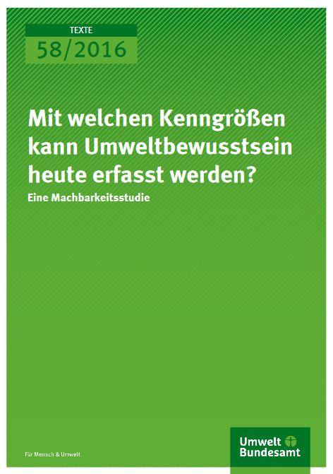 Kenngrößen Umweltbewusstsein © UBA