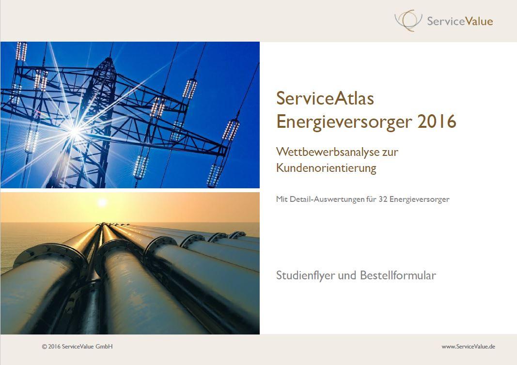 Serviceatlas Energieversrger 2016 - Studienflyer © 2016 ServiceValue GmbH