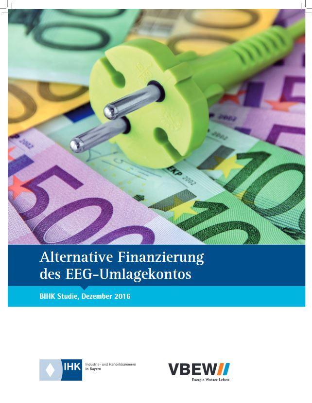 BIHK-Studie: Alternative Finanzierung des EEG-Umlagekontos - Titel © IHK; VEBW;