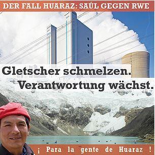 Der Fall Huaraz: Saúl gegen RWE - Plakat © GERMANWATCH