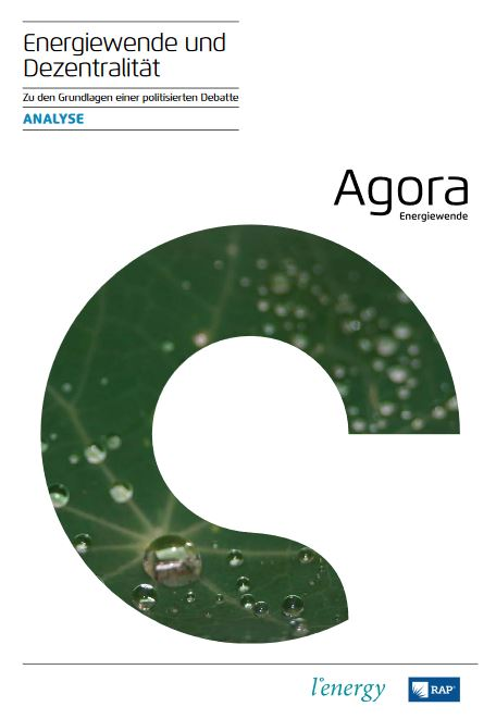 Energiewende und Dezentralität - Analyse © Agora Energiewende, L'energy, RAP