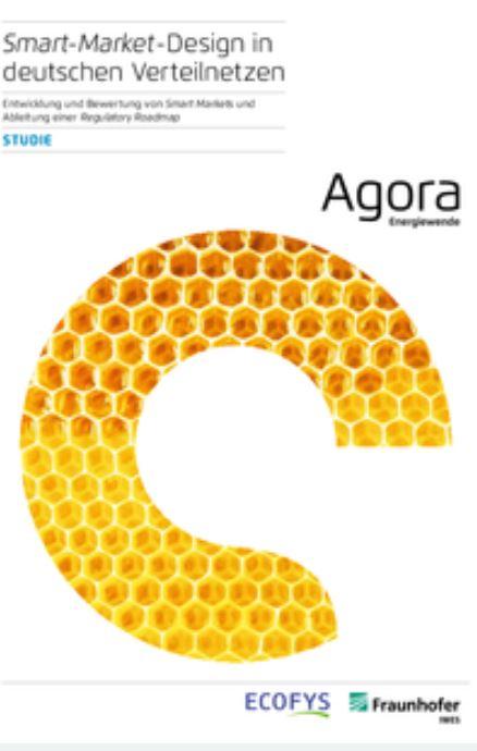 Smart Market Design in deutschen Verteilnetzen Titel-© Agora-Energiewende; Ecofys; Fraunhofer IWE;
