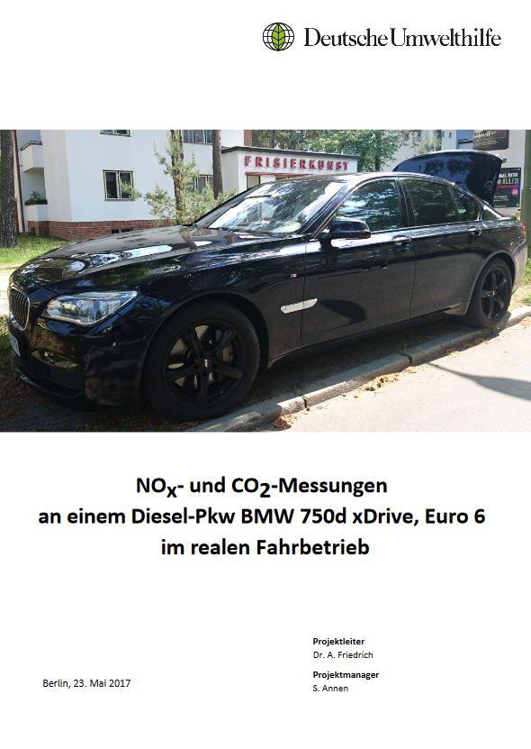 NOx- und CO2-Messungen am BMW 750d - Titel © Simon Annen/DUH
