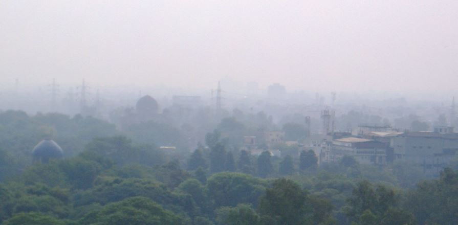 Smog - Luftverschmutzung in Delhi - Foto © Gerhard Hofmann für Solarify