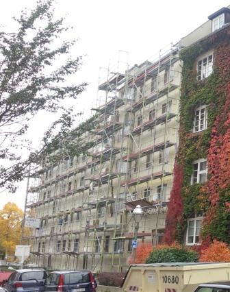 Wärmedämmung an Berliner Wohnhaus (energetische Sanierung) - Foto © Gerhard Hofmann für Solarify