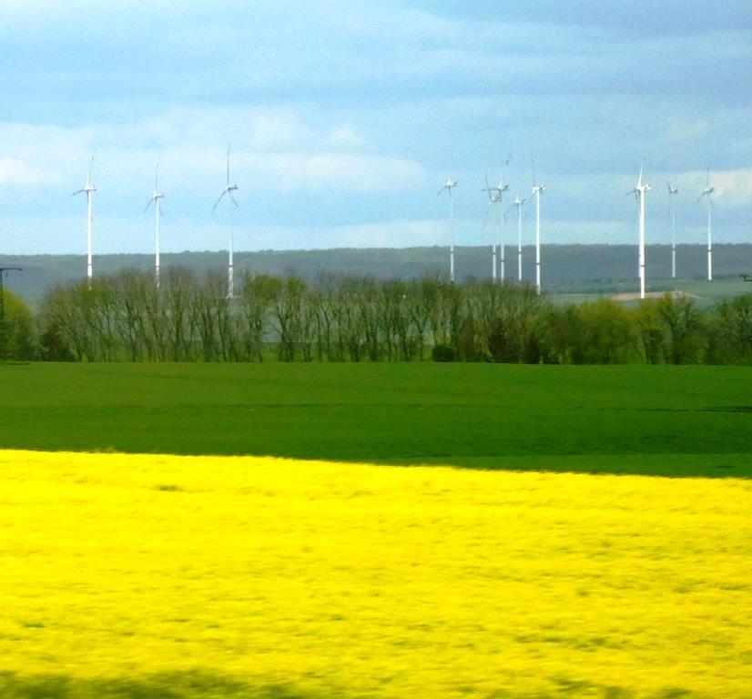 Bio und Wingeneratoren bei Ansbach, Mittelfranken - Foto © Gerhard Hofmann, Agentur Zukunft für Solarify